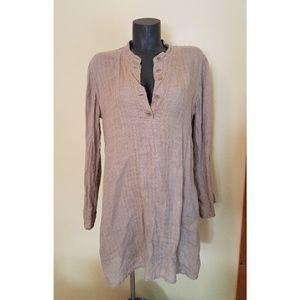 Flax Linen Tunic Top